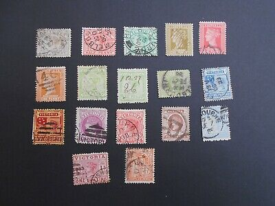 Victoria QV 1886 Stamp Duty used various x 17