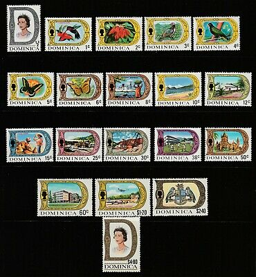 Dominica - 1969-72 Sg 272/290 Definitive Issue - Chalk Surfaced Paper  - Mnh Set