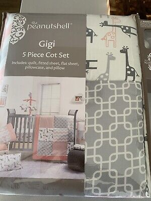 Selling the peanut shell Gigi 5 piece cot set and musical mobile
