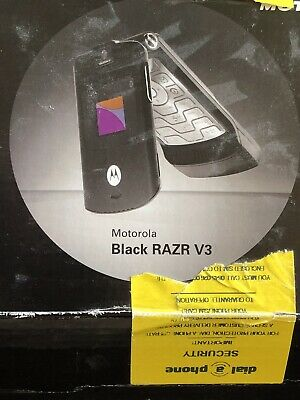 motorola razr v3 Black Boxed With New Battery Fitted Today Good Used Condition.