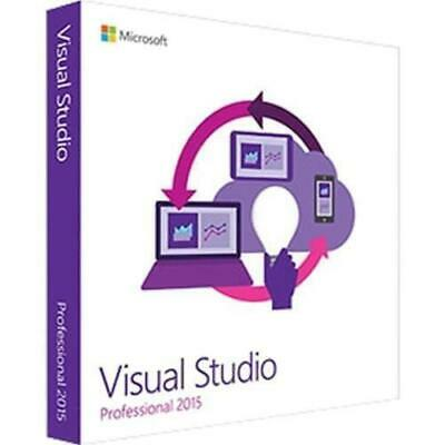 Visual Studio Professional 2015 - Unlimited PC's ⭐ Lifetime License ⭐