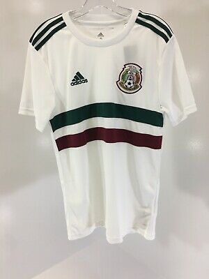 6d107305b ADIDAS CLIMALITE MEXICO Away White Soccer Jersey Hector Herrera  16 ...