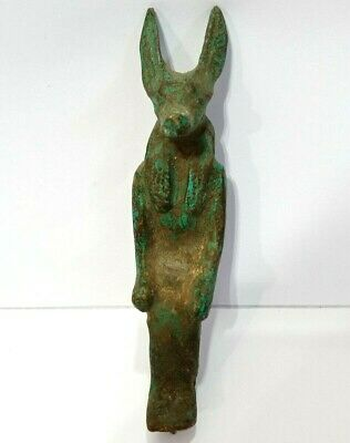 Rare Anubis Egyptian God Statue Figurine Ancient Dog Sculpture Jackal Afterlife