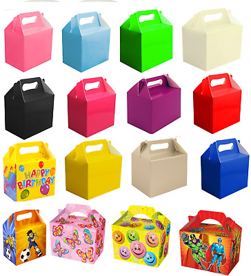 12 Party Boxes - Lunch Meal Gift Bag Childrens Food  - Choose From 25 Designs