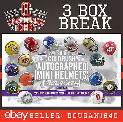 2018 Gold Rush Autograph Mini Helmet CLEVELAND BROWNS [3box] TEAM BREAK [Live]