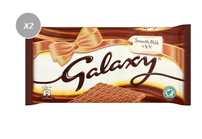 908484 2 x 360g BLOCKS GALAXY SMOOTH MILK CHOCOLATE GIFT PACKAGING