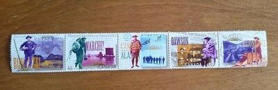 Canada Mint Stamps MNH - 45¢ Yukon Gold Rush Strip of 5