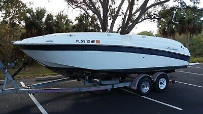 2003 Mariah 21DX deck boat hull only -Needs power and upholstery work