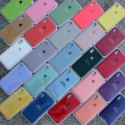 Genuine Original OEM Silicone Case Cover For iPhone X XR XS Max 7 8 6 6s Plus