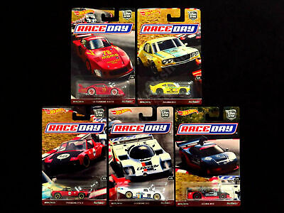 Hot Wheels 2017 Car Culture RACE DAY PORSCHES, MAZDA, ACURA. Set of 5 Cars Q55