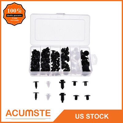 100Pcs 6 Size Clip Trim Car Push Pin Rivet Bumper Door Panel Retainer Assortment