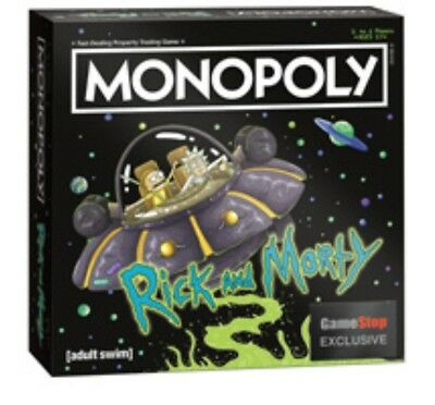 New! Rick and Morty Monopoly Board Game GAMESTOP EXCLUSIVE RARE