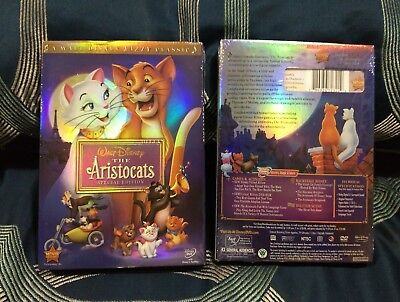 The Aristocats (DVD, 2008, Special Edition) New Disney sealed with Slipcover