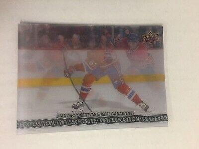 2017-18 UD Upper Deck Tim Hortons Triple Exposure Max Pacioretty Insert TE3