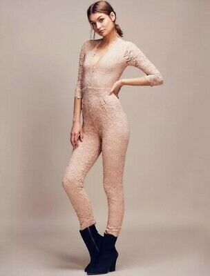 63616d77676 NEW FREE PEOPLE Nightcap Dixie Lace Catsuit Size S  550 Sold out ...