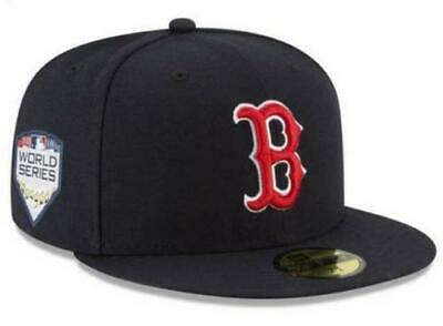 New Era Boston Red Sox 2018 MLB World Series Hat Patch 59FIFTY Cap