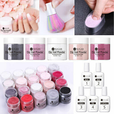 6pcs/set UR SUGAR 30ml Nail Dipping Powder System Liquid Brush Natural Dry Clear
