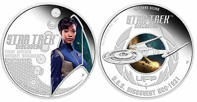 2018-P $1 Tuvalu Star Trek Discovery 1oz .9999 Silver 2-Coin Set
