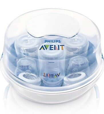 Philips Avent Microwave Steam Sterilizer 3 in 1 for 4 Baby Bottles New