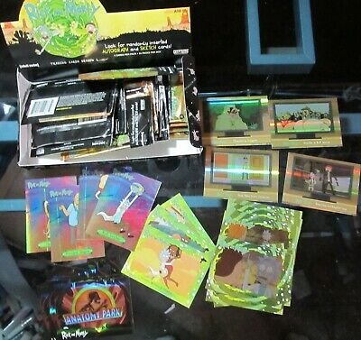 Rick And Morty Season 1 Lot Of Trading Cards And Box Cryptozoic Wrappers