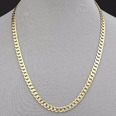 cadd286cd0e8f MIAMI CUBAN LINK 14k Gold Plated 7mm 9mm 12mm Necklace 16