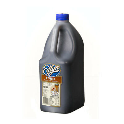 COFFEE EDLYN FLAVOUR TOPPING SYRUP 3L Bottle Thick Shake Milkshakes /Sundaes