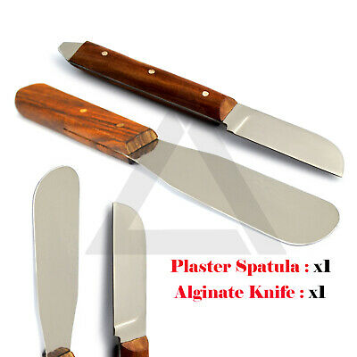 Dental Plaster Alginate Flexible Waxing & Modelling Knife Carvers Mixing Spatula