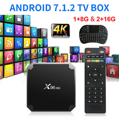 2019 X96 Mini 8G 16G Amlogic S905W Quad Core 4K WIFI Smart TV Box Android 7.1 CF