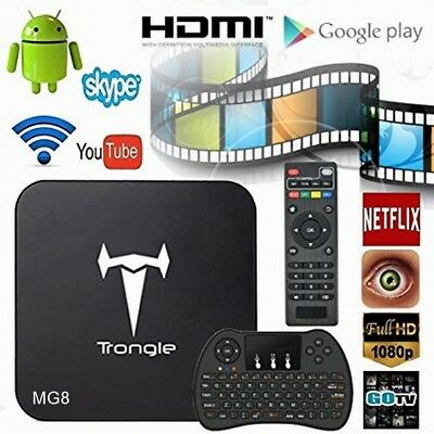 Trongle mg8 Quad Core Android 4.4 TV Box 2GB+8GB  BT 4.0 with Wireless Keyboard