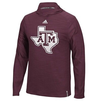 cd4da15ef Texas A&M Aggies NCAA Adidas Maroon Climalite Sideline Training Hood