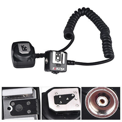 VILTROX Photography TTL Off-Camera Flash Sync Extension Cord for Nikon Hot Shoe