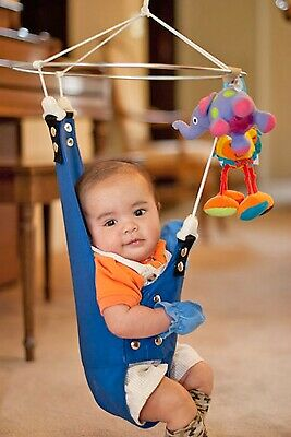 Merry Muscles Infant Exerciser Therapeutic Ergonomic BLUE.
