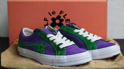 b0880de8ced Converse x Tyler The Creator Golf Le Fleur Purple Green In UK10 With  Rucksack.