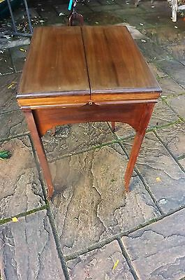 Ladies Writing station table Edwardian in quality mahogany.