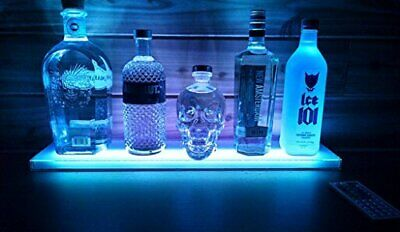 Home Bar Lighting 2 Ft LED Lighted Liquor Bottle Display Shelf Remote Control