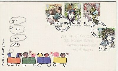 GB Stamps First Day Cover International Year of Child,train CDS Northampton 1979