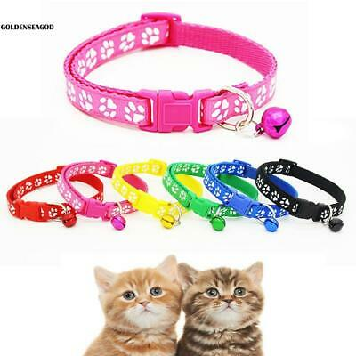 Pet Collar Dog Cat Footprint Safety Adjustable Nylon Leash Collars with GDNG 01