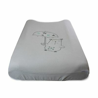 Bubba Blue Beary Happy Change Pad Cover - Grey/Mint