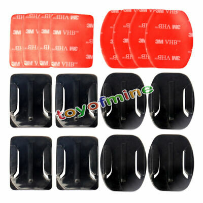Helmet Flat /3 Accessories 12Pcs Hero Curved For Mount Adhesive 1/2/3 Gopro