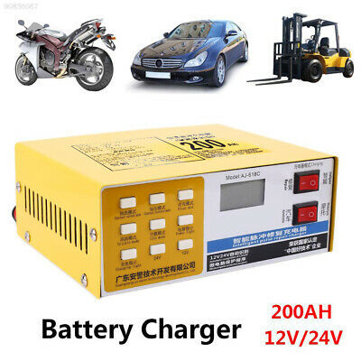3A2D US Plug Automobile Replacement Battery Charger Intelligent 200AH 12V/24V