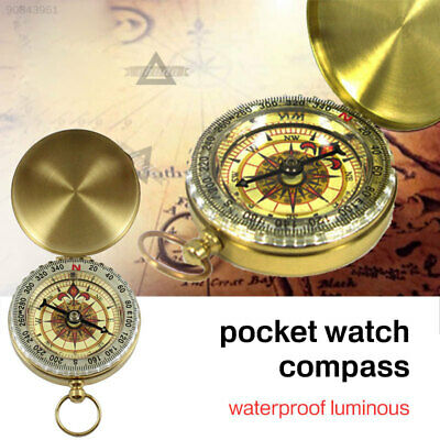 E6BE G50 Compass Pocket Watch Waterproof Direction Hunting Outdoor Tool