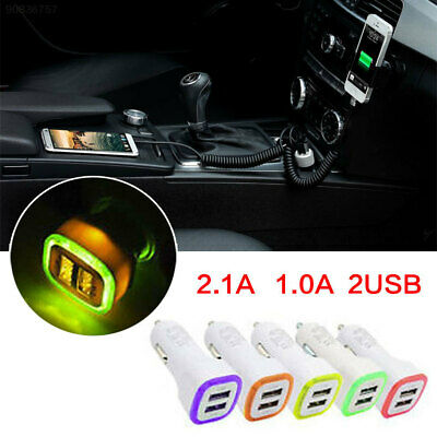 99B9 2.1A 1.0A 5W LED Dual USB 2 Ports Car Charger Charging For Smart Phone]