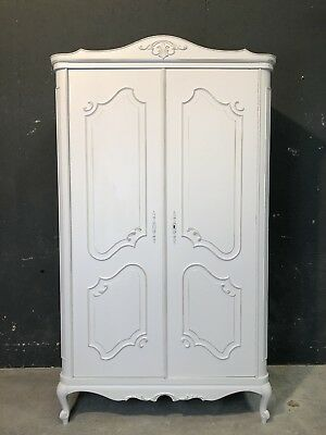 Vintage French Armoire / 2 Door French Wardrobe / Shabby Chic Style (VB326A)
