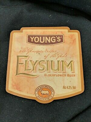 beer pump clip badge - Young's Brewery Wandsworth Elysium Ale