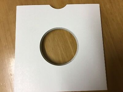 25 WHITE CARD 7 INCH RECORD SLEEVES U.K. MADE.  Price includes postage