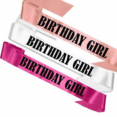 Birthday Girl Sash Party Accessory 16Th 18Th 21St 30Th 40Th 50Th Badge Banner