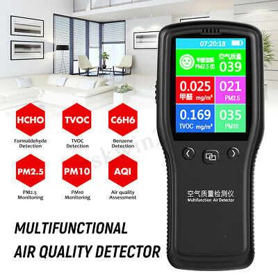 8In1 Air Quality Detector PM2.5 PM10 TVOC HCHO Formaldehyde Air Quality Monitor