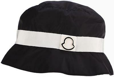 608535f584f NEW GUCCI BLACK Lambskin Leather Bucket Hat W zip Pouch Small Unisex ...