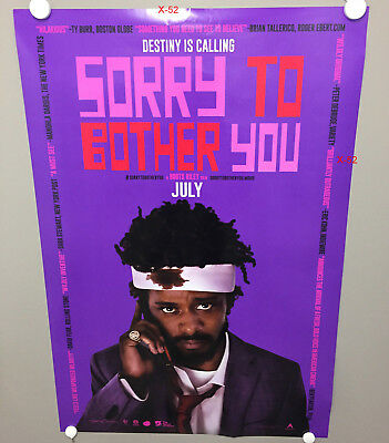 SORRY TO BOTHER YOU movie poster DOUBLE SIDED (27x40) lakeith stanfield boots r