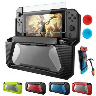 Accessories Protective Case +Tempered Glass+Grips Caps+Wipes for Nintendo Switch
